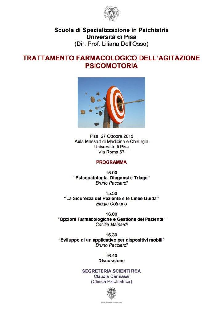 Locandina Trattamento Farmacologico Agitazione Pisa 2015